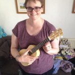 me and my new ukulele I bought for my birthday!