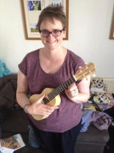 me and my new ukulele I bought for my birthday! (2014)