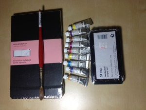 Art supplies, ready to go!