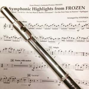 Second flute piece for symphonic highlights from frozen.